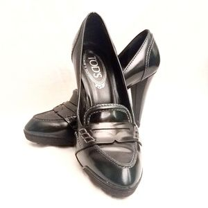 Tod's Italian Leather Loafer Heel